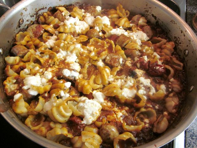 pasta with harissa sauce