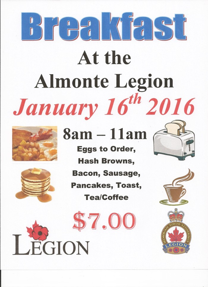 Legion Breakfast -January 16