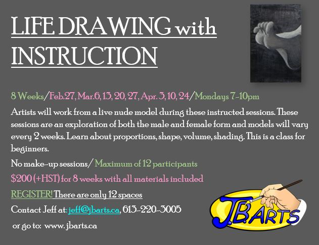 Ad for life drawing