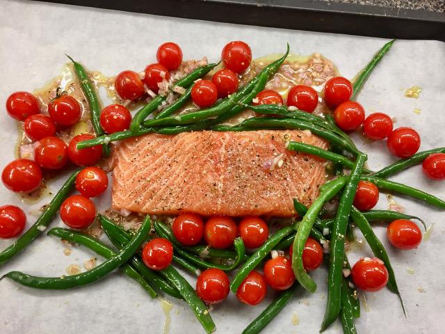 sheet pan mediterranean salmon the millstone