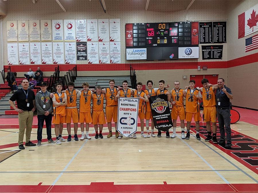 ADHS boys basketball team wins OFSAA gold