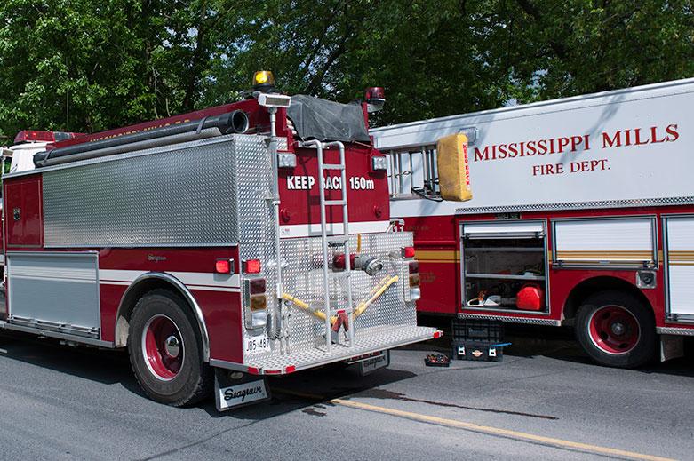 Fire destroys barn on Appleton Side Road