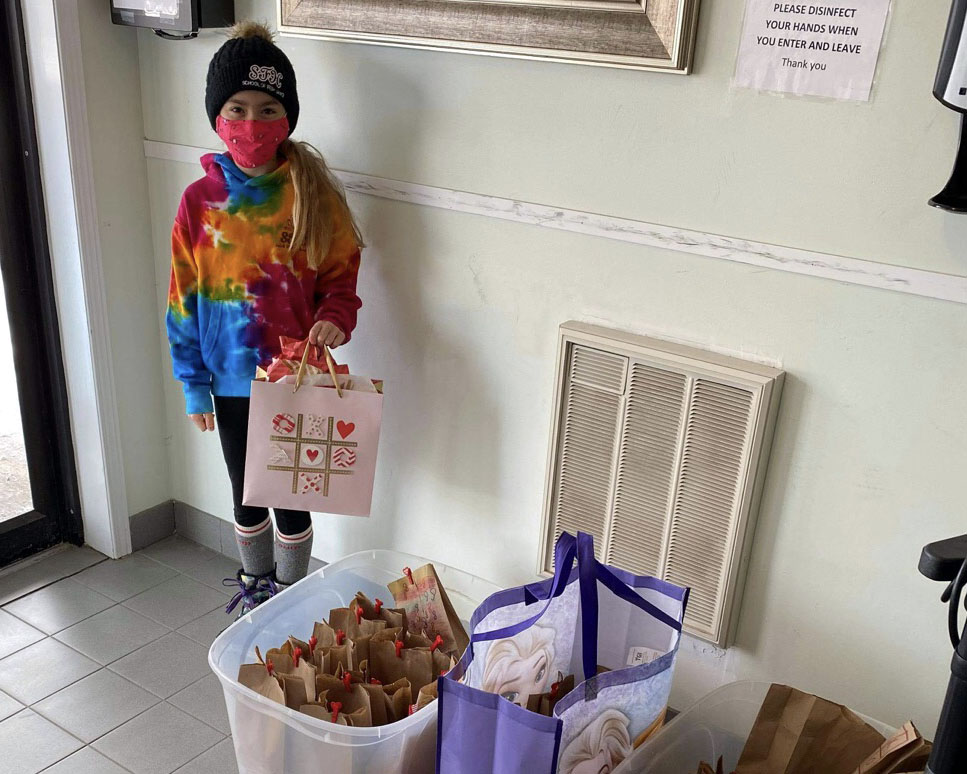 Seven-year-old makes Valentine's gifts for 56 retirement home residents
